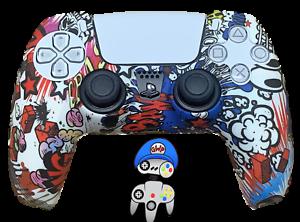 Funda de silicona para PS5 controlador caso piel-Mayhem