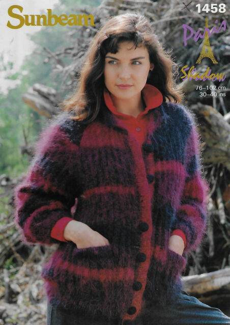 3331a08509 Women s Mohair Ribbed Jacket Sunbeam 1458 knitting pattern winter cardigan