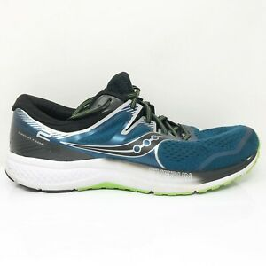 Saucony-Mens-Omni-ISO-2-S20511-1-Black-Blue-Running-Shoes-Lace-Up-Size-14