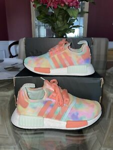 New-Adidas-NMD-R1-Tie-Dye-Women-039-s-Running-Shoes-FY1271-Size-6-5