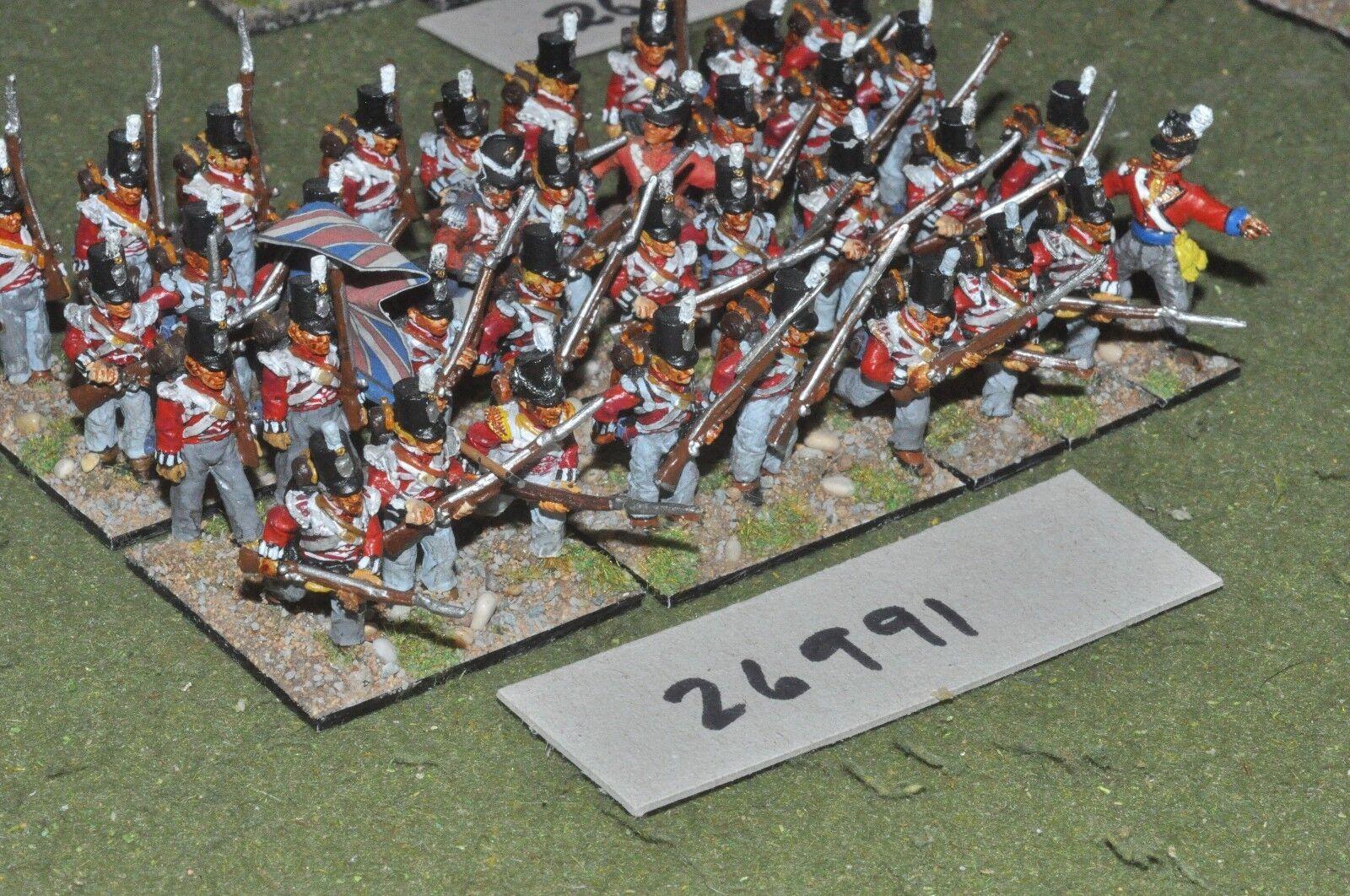 25mm napoleónicas británico Regt. 36 figuras-INF (26991)