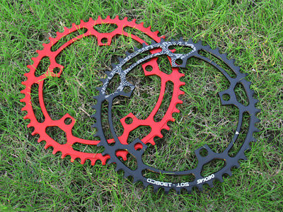 1*Folding Road MTB Bike BCD 130 Narrow Wide single Chainring 50 52 54 56 58T Red