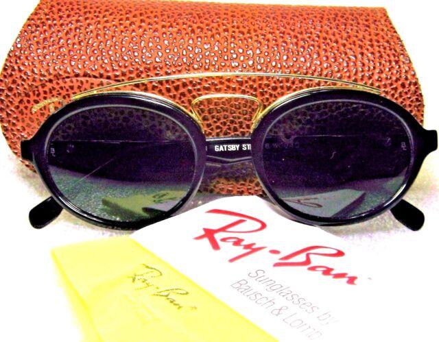 Ray-Ban USA Vintage NOS B&L Gatsby Style 6 Ebony-Gold