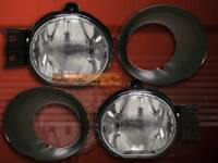 2002-2008 Dodge Ram Clear Bumper Fog Lights Oe Replacement