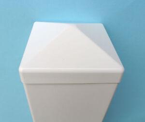 Pfostenkappe-H5-spitzform-fuer-PVC-Zaun-Kunststoffzaun-Sichtschutzzaun-Gelaender