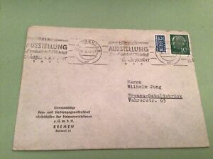 Germany Bremen Exhibition slogan cancel tax  stamps cover ref 50558