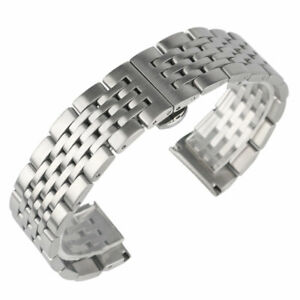 18-20-22-24mm-Mens-Stainless-Steel-Strap-Wrist-Watch-Band-Silver-Bangle-Bracelet