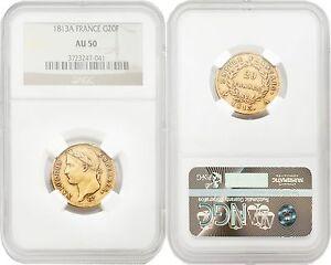 France-1813-A-20-Francs-Gold-NGC-AU50