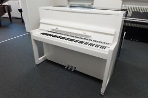 Klavier-Feurich-115-Weiss-Chrom-NEU-inkl-Bank