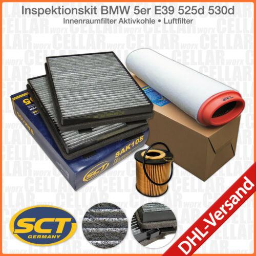 Ölfilter BMW 5er E39 525d 530d Innenraumfilter Aktivkohle Luftfilter