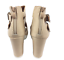 thumbnail 6 - Womens Ladies Beige Faux Leather High Heel Peep Toe Sandals Shoes Size UK 7 New