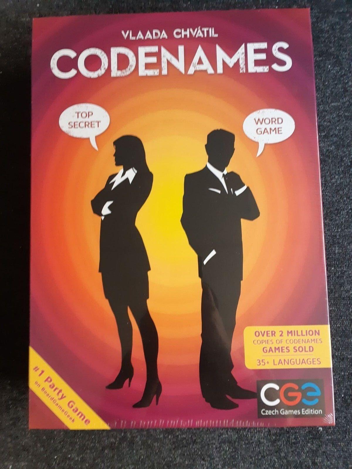 UK Codenames Deduction Party Board Game RARE SUPER SIZED