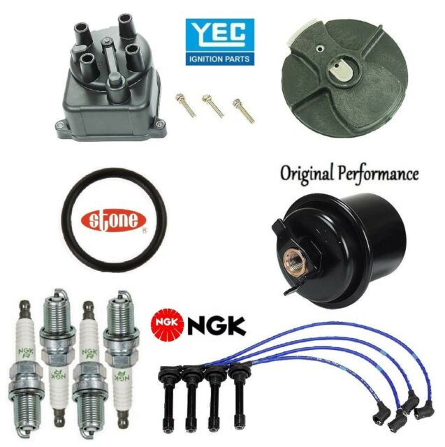 Tune Up Kit Fuel Filter Cap Rotor Wire Plugs For Acura