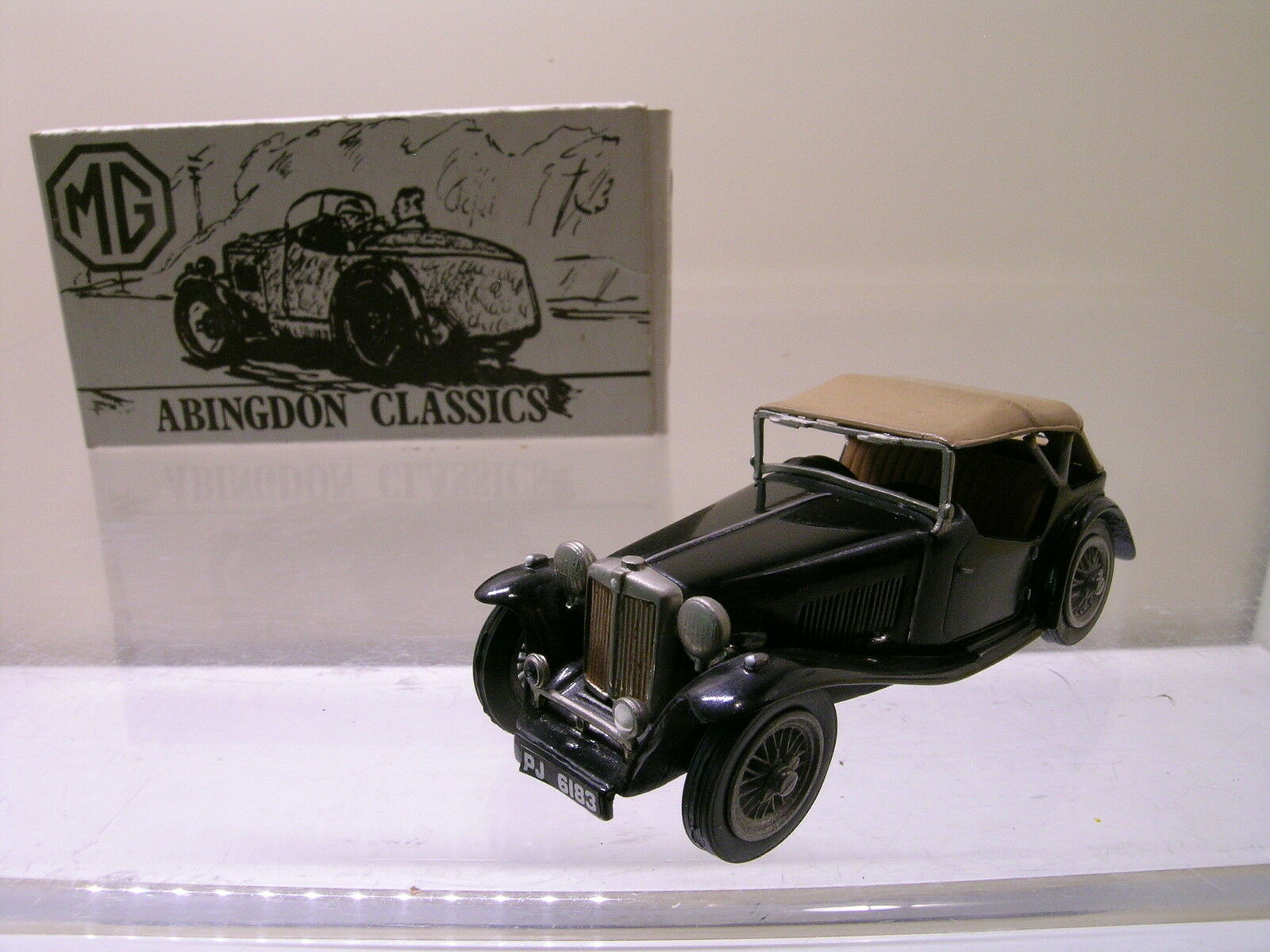 ABINGDON CLASSICS MODELS No1 MG TC negro BEIGE blanco-METAL HANDBUILT BOXED1 43