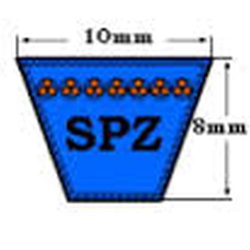 SPZ Wedge ceinture 8mm heightx 9,7 mm de largeur x 875mm