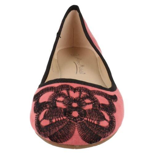 Blue SALE Ladies Anne Michelle Flat Shoes in Purple Green Pink or Black L4946