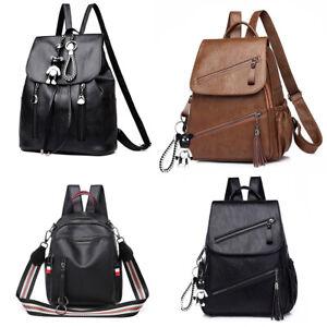 Women Backpack Designer Rucksack Large Ladies Shoulder Bags PU Leather Canvas
