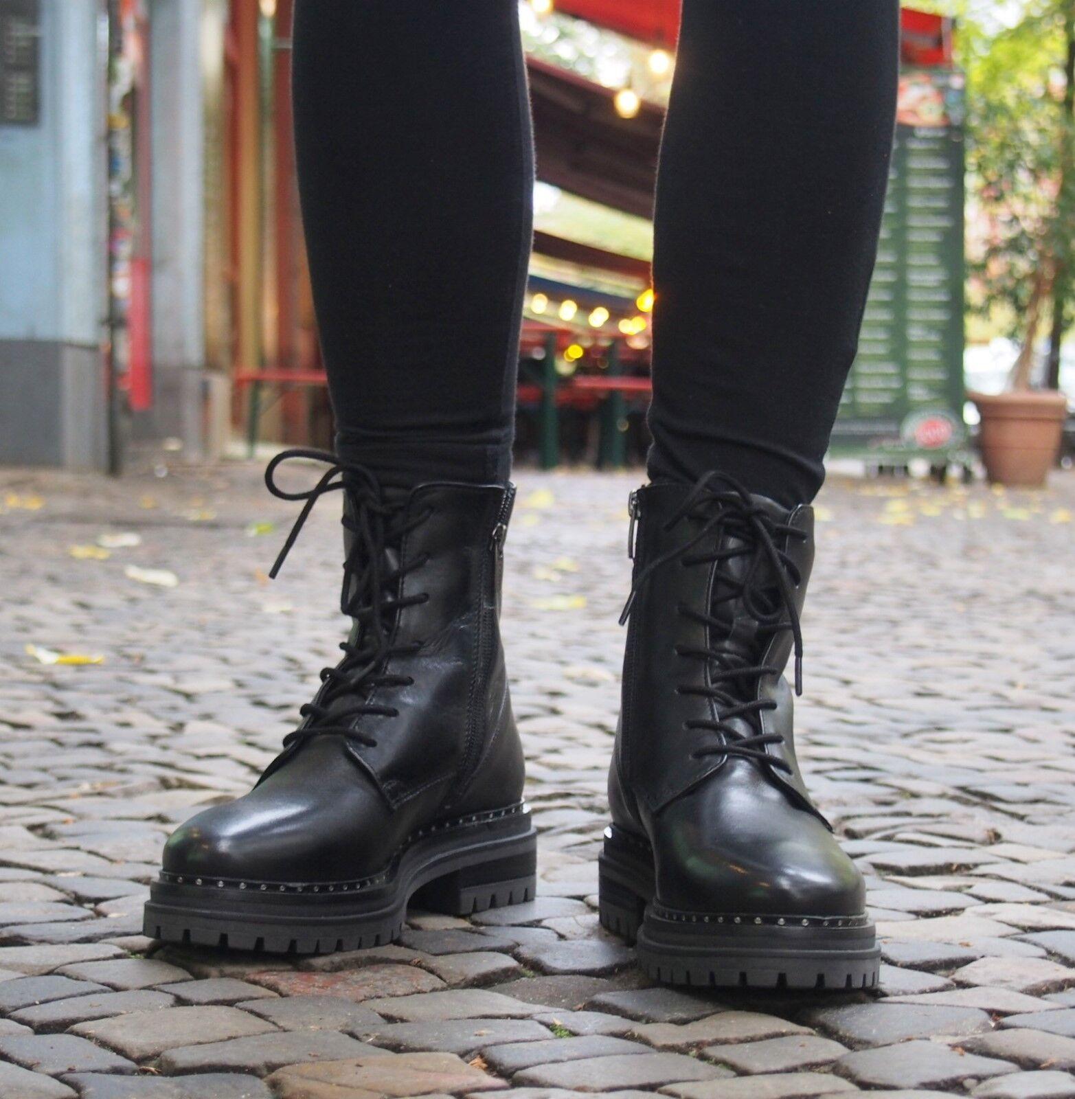 MEXX Schuh Bogdana schwarz Schwarz Echtleder Damenstiefelette Reißverschluss NEU