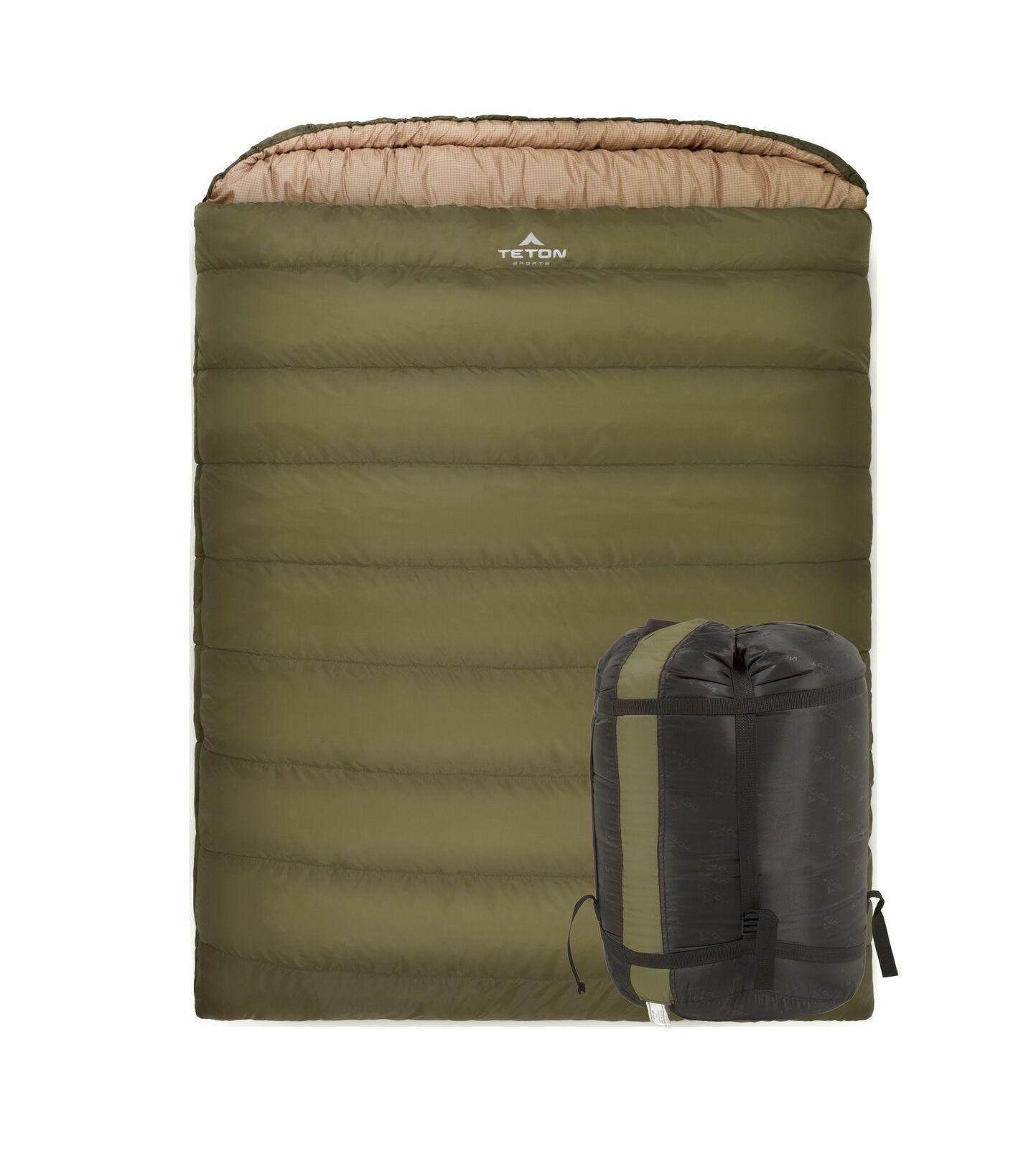 Teton Sports mamut Queen-Talla Doble Bolsa De Dormir; cálido y confortable para..