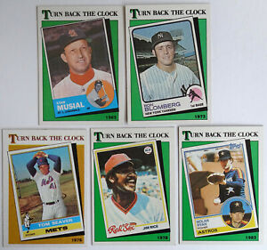 1988-Baseball-Cards-Topps-Turn-Back-the-Clock-1963-1983-Jim-Rice-Lot-of-5