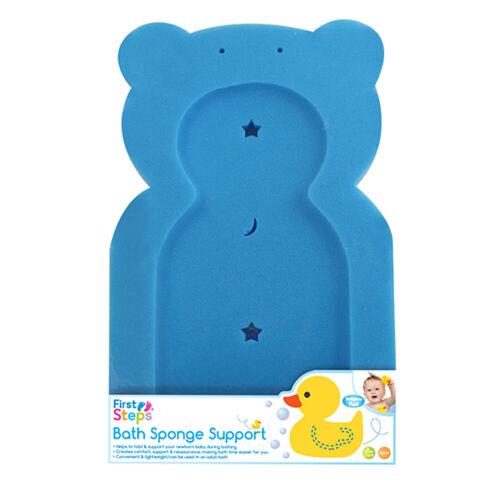 Baby Bathtime Teddy Comfort Soft Support Bath Sponge Mat Toddler Newborn Nonslip