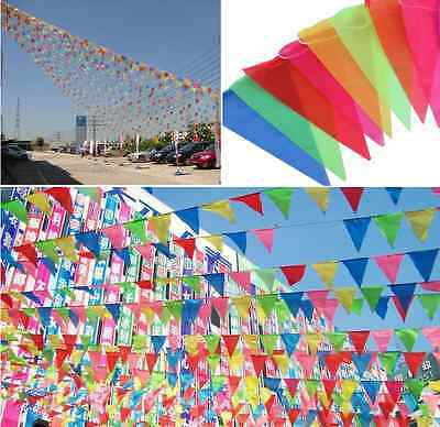 10 Meter Banner Bunting Pennant Flags Party Birthday Wedding Rainbow Decor Flag