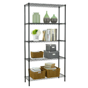 "New 5 Tier Wire Shelving Unit NSF Metal Shelf Rack 1250 LBS Capacity 14""x36""x72"""