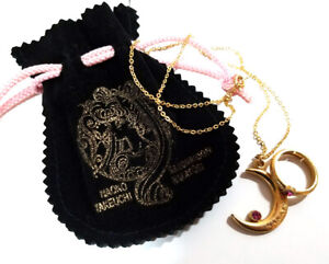 Sailor-Moon-Nakayoshi-Promo-Furoku-Necklace-Ring-SET-in-Pouch-Serenity-1992