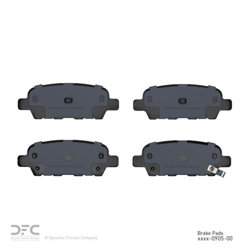 Ceramic Rear DFC 1551-0905-00 Disc Brake Pad Set-5000 Advanced Brake Pads