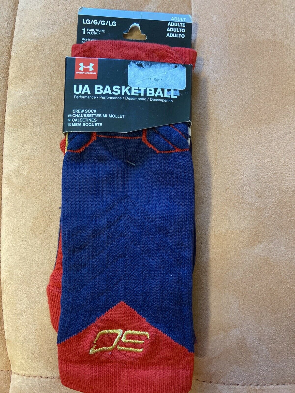 basura tijeras barbería  Under armour Stephen Curry Basketball Crew Men's Socks, Size L - Blue for  sale online | eBay