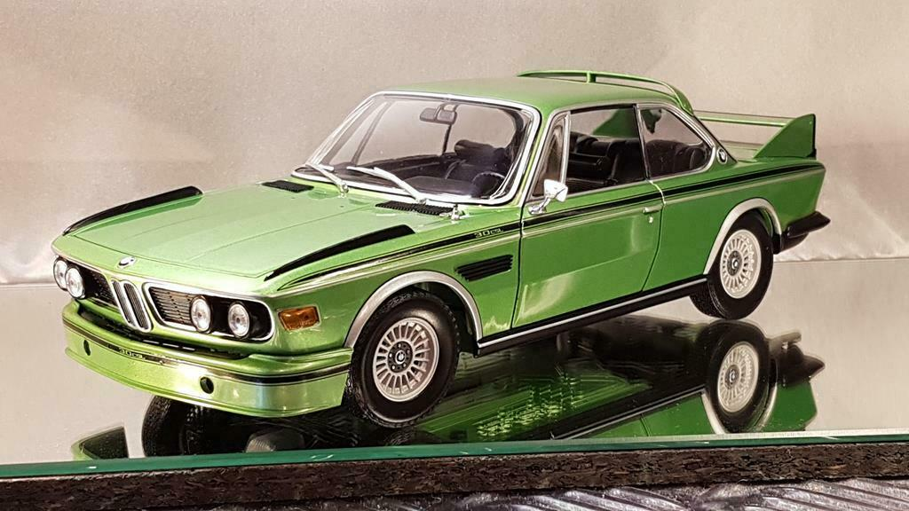 Preissenkung 15%, 1 18  Minichamps BMW 3,0 CSL ( E9 ) 1975, grün, .    OVP