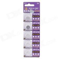 Confezione 5 Batteria Pila CR1216 Bottone Tonda Litio 3V hsb