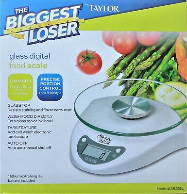 Groovy New Taylor Precision Products Glass Top Biggest Loser Digital Kitchen Scale Ebay Home Interior And Landscaping Transignezvosmurscom