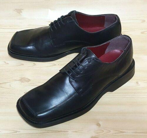 Vtg Clarks Oxfords Black Leather Mens Shoes Size 9
