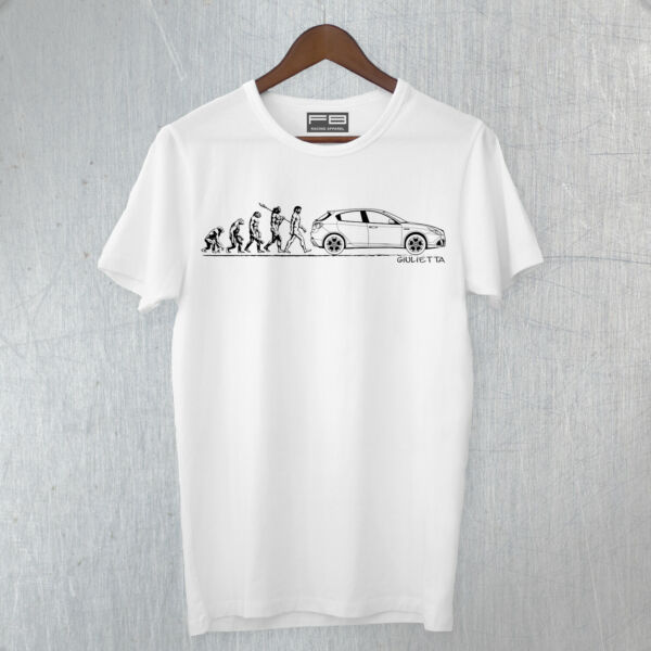 T-shirt Maglietta Inspired Alfa Romeo Giulietta Evolution Man Idea Regalo Art