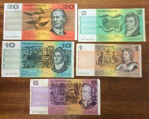 Aust-banknotes-as-pictured-circulated-condition