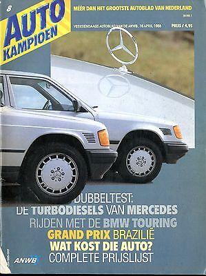 1988 Autokampioen Magazin 8 Mercedes Tb Bmw Touring Peugeot 309 Subaru Mini