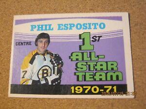 1971-72-OPC-O-Pee-Chee-253-Phil-Esposito-Boston-Bruins-1st-All-Star-B