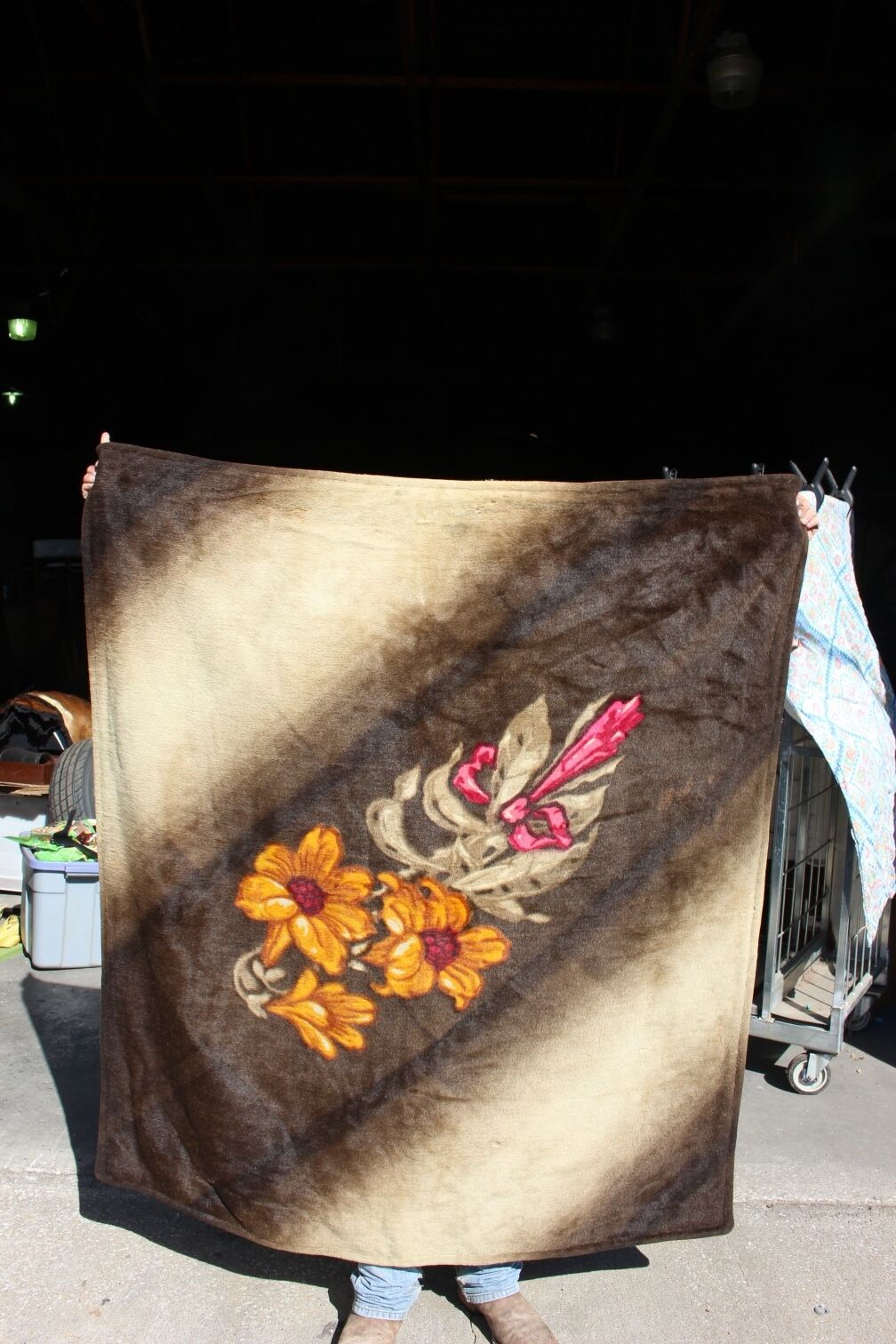 36-13 Cavtuttio vintage disegnato lap accappatoio bellissimi fiori