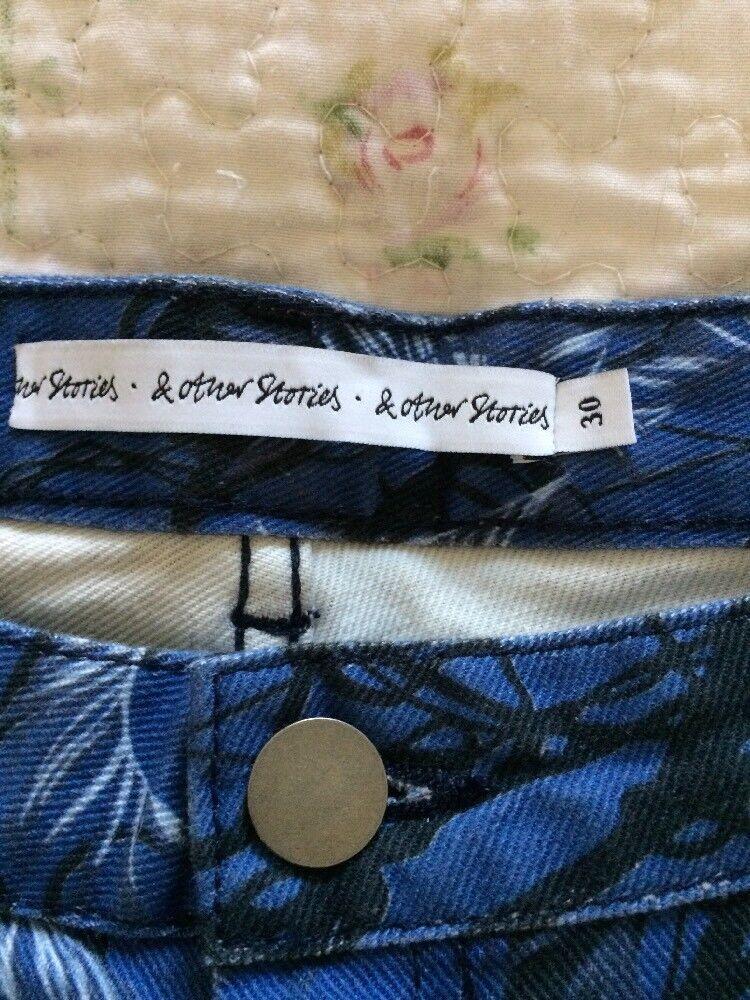 Never Worn & OTHER STORIES Cropped Slim Slim Slim Leg Printed Blau Jeans-sz 10 Waist 30 | Hohe Qualität Und Geringen Overhead  | Neu  | eine große Vielfalt  | Spielzeugwelt, spielen Sie Ihre eigene Welt  | Gutes Design  191ea0