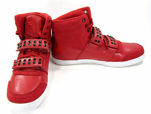 c98f29479 Image is loading Reebok-Shoes-Classic-Mid-Studed-Suede-Leather-Red-