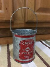 Catch Of The Day Minnow Pale Rod Reel Bait Hooks Baits Tackle Boat Fishing Decor