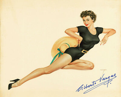 Alberto Vargas Pin Up Girls Giclee Art Paper Print Poster Reproduction