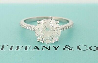 6392336ba1167 Tiffany & Co NOVO 1.12 ct Platinum Round Cut Diamond Engagement Ring $20K |  eBay