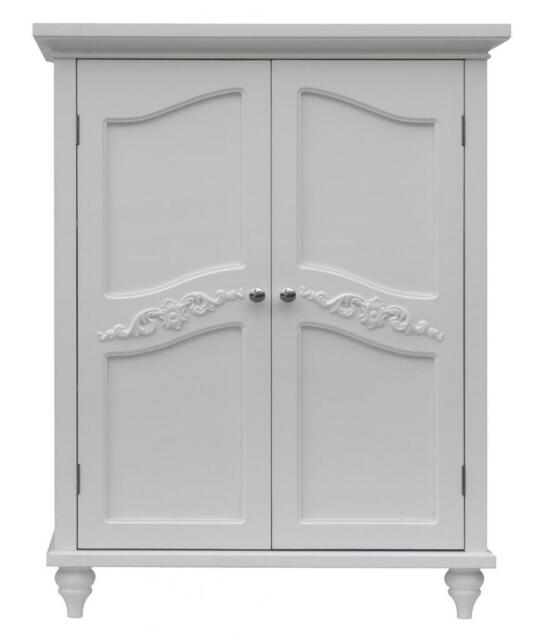 Elegant Home Fashions Victoria Floor Cabinet With 2 Doors White Lhy055