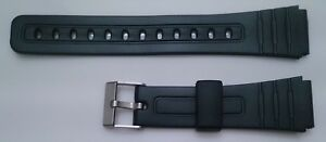 Correa-De-Goma-Para-Reloj-CASIO-F91-W59-F105-Hebilla-Metalica-18mm-Repuesto