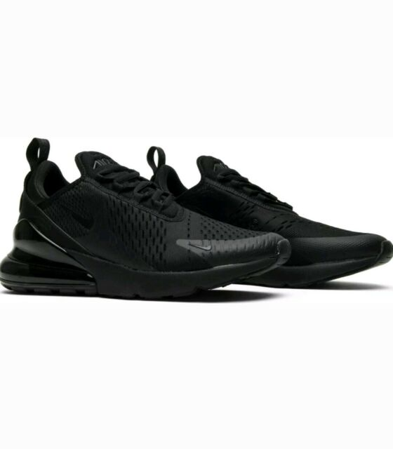 Nike Air Max 270 Triple Black Ah8050 005 Men Running Shoes