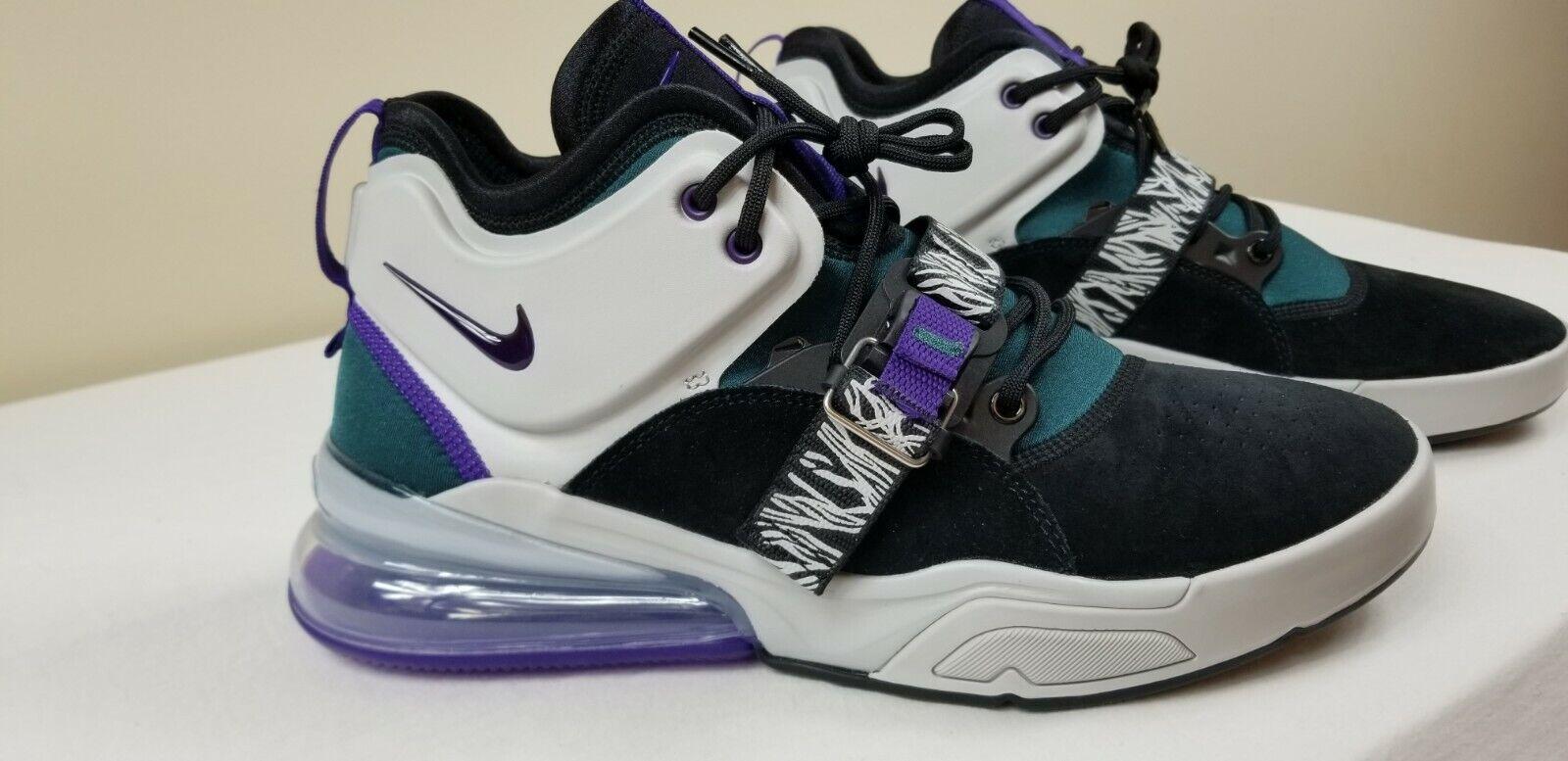 Nike Air Force 270  Carnivore  Black Court Purple Teal AH6772-005 Men's Sz 10.5