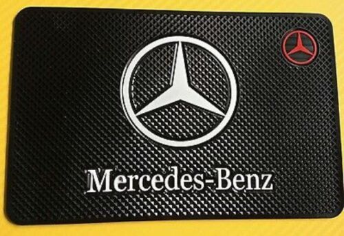 Mercedes Benz Actros Logo Car Antiskid Dashboard Mat Non Slip holder mobile Keys