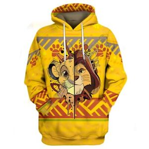 The Lion King Simba 3d Print Hoodies Men Women Casual Pullover Sweatshirts Tops Ebay